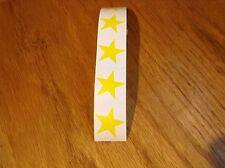 **100** Yellow Stars Tanning Stickers
