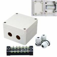 Waterproof Enclosure Electrical Junction Box Connector Terminal Wire Cable Case
