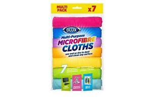 7 Pack Microfibre Cloths Multi Purpose Cleaning Dust Surfaces Streak Free