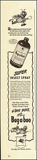 1942-Vintage Ad for Bug-a-boo`Art, insect spray, bottle (020715)