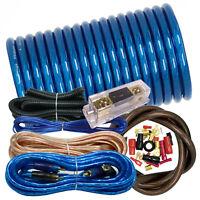 3000W Car Audio Blue 4 Gauge Pro AMP / Amplifier Power Wiring Kit Pro ANL Fuse