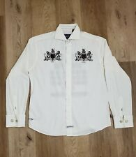 English Laundry Mens Button Down Dress Shirt Embroidered  Size Medium.