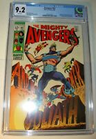 Avengers #63 CGC 9.2, NM-, White pages,1969, Hawkeye becomes new Goliath,