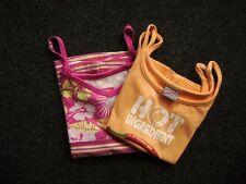@ Sanetta Tom Tailor @ 2x Haut à bretelles orange et rose Gr. 116/122 6-7 Ans