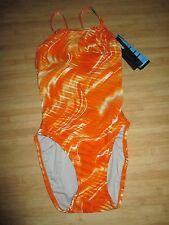 NEW Speedo Size 2 28 ATHLETIC Swimsuit RACING Performance Orange $76 Retail