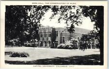COLUMBUS, Ohio OH   CAPITAL UNIVERSITY Conservatory of Music Mees Hall  Postcard