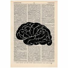 Anatomical Brain Dictionary Print Vintage,  Anatomy, Gothic, Art, Unique, Gift,