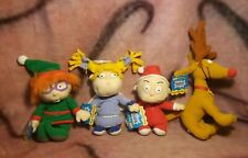 Rugrats Holiday Beanbag Plush Set Tommy, Chuckie, Angelica, Spike New With Tags