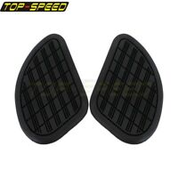Universal Motorcycle Rubber Tank Traction Pad Side Gas Knee Grip Protector Black