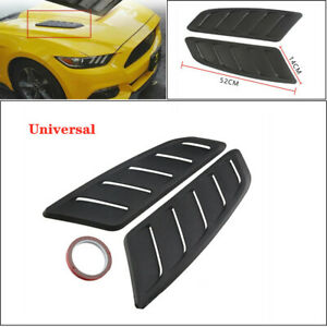 Universal ABS Plastic Car Hood Air Intake Scoop Bonnet Vent Hood Vent Sticker 2x