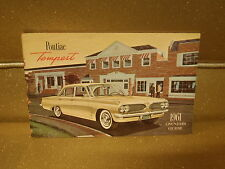 1961 PONTIAC TEMPEST COUPE CONVERTIBLE FACTORY OWNERS MANUAL BOOK DEALER 61
