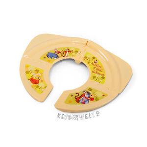 Disney  Winnie Pooh Baby Kinder faltbarer Reise WC Sitz Toilettentrainer Aufsatz