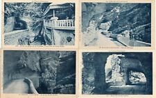 Lot 4 cartes postales anciennes DRÔME route des grands goulets 4