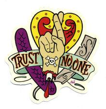 tattoo sticker trust no one hot rod drag race kustom kulture rockabilly art