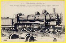 cpa LOCOMOTIVE à VAPEUR (Etat) SERVICE des TRAINS EXPRESS construite en 1907