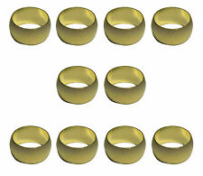 10mm Brass Olives (10 Pack) For Compression Plumbing Fittings