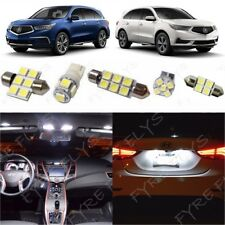 14x White Interior LED Lights Package Kit for 2014-2017 Acura MDX +Tool AM3W