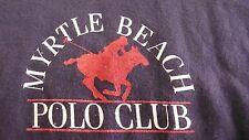 VTG. MYRTLE BEACH POLO CLUB XL BLUE T-SHIRT MADE IN USA