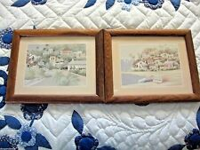 Lot 2 Older Jean Coleman marked Matted/Glass Framed Prints-Houses Architecture