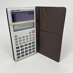 VTG 1982 SHARP EL-515S Solar Pocket Scientific Calculator + Case (Good Working)
