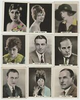 Lot 9 different 1927 AFRICAN TOBACCO CINEMA ARTISTES Tobacco Cards - Film Stars