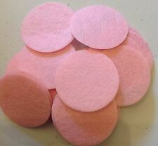 Thin Felt Circles Pink 35mm 50pcs