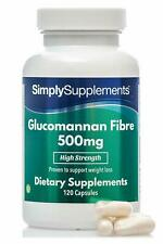 Glucomannano 500mg - 120 Capsule - Integratore di SimplySupplements