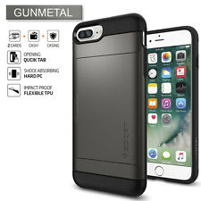 Express iPhone 7 Plus Case Spigen Slim Armor CS Card Cover for Apple Gunmetal