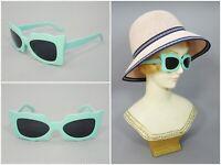 50s Retro Vintage Sunglasses Mint Green Frame Hollywood Rockabilly Punk Style