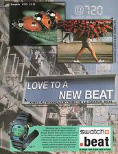Publicité Advertising 1999  Montre  SWATCH  beat