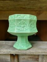 Vintage USA Pottery Mint Green Planter