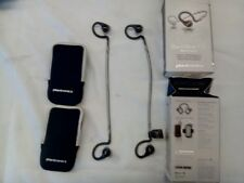 Lot of 2 Plantronics BackBeat Fit Bluetooth Headphones-Black & Silver Parts Only