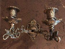 Wand-Kerzenhalter Kerzenleuchter Messing Schwenkarme Antik Stil Klavierleuchter