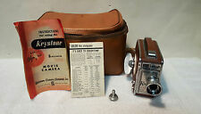 Vintage Keystone Olympic K-32 USA 8mm Video Film Camera w/ Original Case, Manual