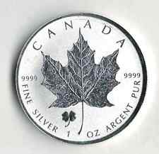 ONE OUNCE .9999 FINE SILVER ROUND 2016 REVERSE PROOF CANADIAN MAPLE