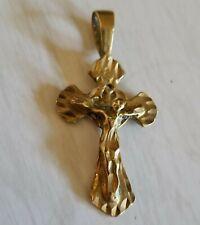 Beautiful 14-Karat Italian Gold Antique Crucifix Pendant