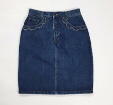 Mash mini gonna jeans vintage strass W32 tg 46 blu vintage usata hot T2473