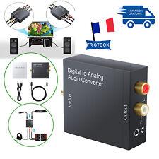 Adaptateur audio convertisseur numérique vers analogique Câble coaxial optique