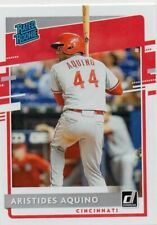 2020 Donruss Rated Rookie Aristides Aquino RC Reds