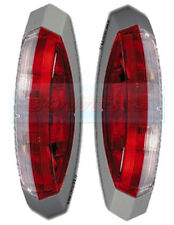 PAIR OF HELLA RED WHITE CLEAR SQUARE SIDE MARKER LAMPS LIGHTS CARAVAN MOTORHOME