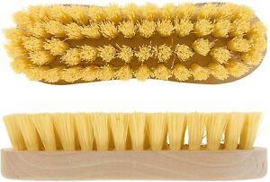 Elliott Wooden Scrubbing Brush Hard Bristle Hand Deck Laundry Floor Scrub Beige