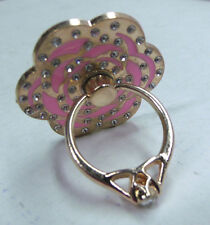 Hot Pink Mobile Phone Grip Holder Stand Finger Ring Metal  for Cell Phone