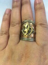 Tibetan Unisex Om Yoga Adjustable Ring Cuff Copper Hippie Nepal Handmade R6