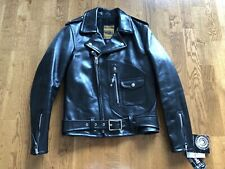 Schott Horsehide Perfecto Black Leather Jacket 1928H Motocycle Flight Bomber 36