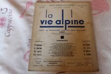 LA VIE ALPINE 22    revue du régionalisme dans les alpe française 1929