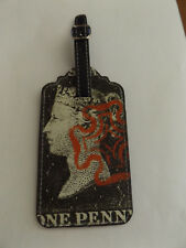 Brand New Penny Post Penny 1d Black Luggage Tag Address Label Postage Stamp