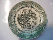 sarreguemines assiette Napoleon plate old french 1860 faience,garde