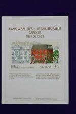 Capex 1987 Canada salutes post office Bureau 1122 Philatelic Souvenir card page