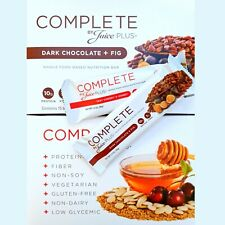 80 COMPLETE BY JUICE PLUS BARS DARK CHOCOLATE FIG & TART CHERRY HONEY *NEW DATES