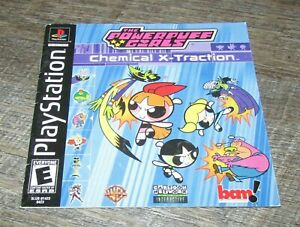 The Powerpuff Girls Chemical X-Traction (Instruction Manual Only) Playstation
